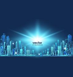 city hand drawn vector image vector image