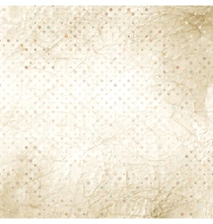 Crumpled old paper with colorful dots EPS 8 vector image vector image