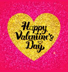 happy valentines day glitter design vector image