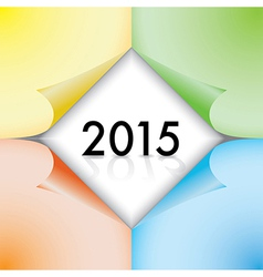 2015 paperstickers vector image
