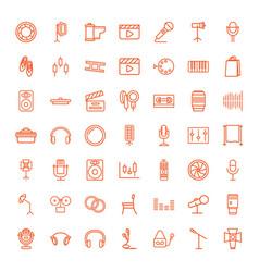 49 studio icons vector