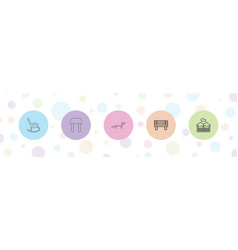5 rest icons vector