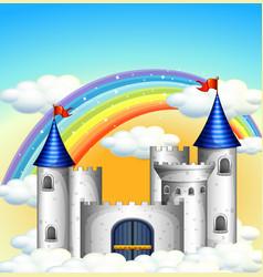 a beautiful castle on sky vector image
