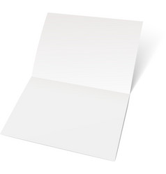 A sheet of paper folded in half vector