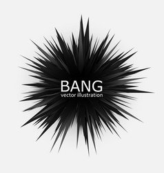 Abstract black explosion banner vector