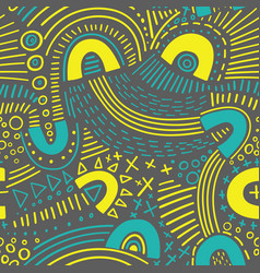 abstract marker lines seamless pattern vector image
