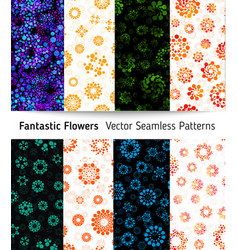 abstract seamless circles design pattern unusual vector image
