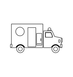 ambulance health care transport emergency urgent vector image