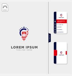 American travel navigator logo template free vector
