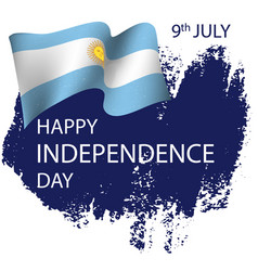 Argentina independence day background vector