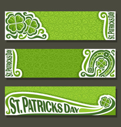 banner for st patricks day vector image