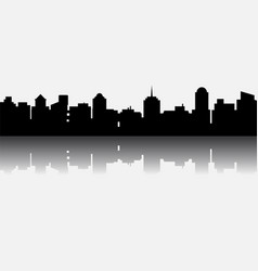 black city silhouette with reflection vector image