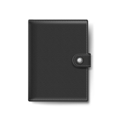 Black Leather Wallet Isolated on White Background vector