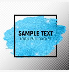 Blue paint glittering textured art vector