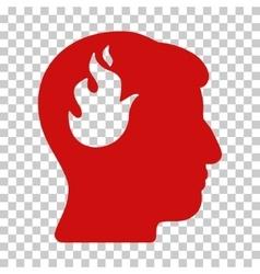 Brain Fire Icon vector