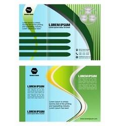 Brochure folder leaflet arrow line green vector