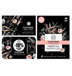business discount card and flyer for master class vector image