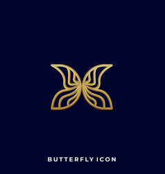 butterfly design template vector image