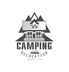 camping recreation logo design wild life sign vector image