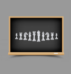 chess strategy lesson vector image