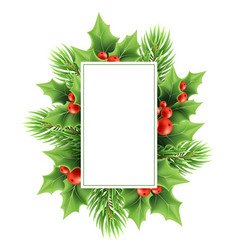 christmas greeting card template vector image