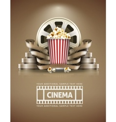 Cinema concept with popcorn vector image