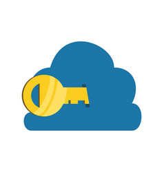 cloud computing server with key vector image