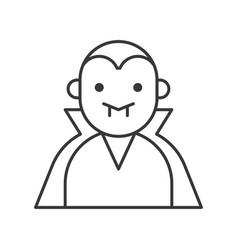Count dracula halloween related icon vector