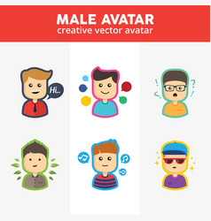 creative male avatar vector image