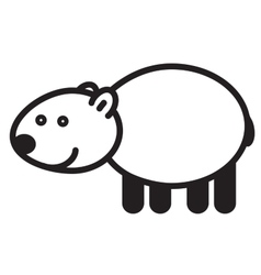 Cute animal polar bear - vector image