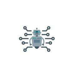 digital robot logo icon design vector image