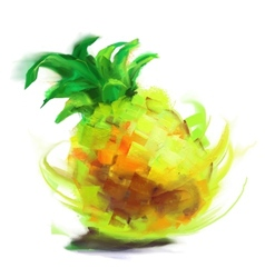 Drawing pineapple vector