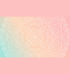 dreamy tender gradient wallpaper with mandala vector image