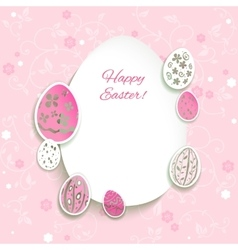 Easter pink background vector