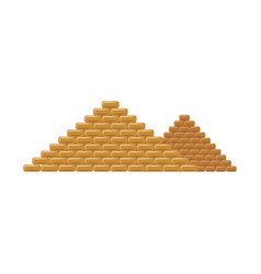 egypt pyramids famous tourists landmark flat vector image
