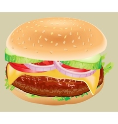 Fastfood Hamburger ingredients vector