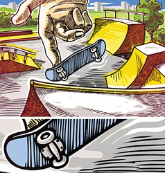 Fingerboarding vector