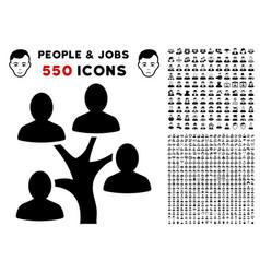Genealogy tree icon with bonus vector