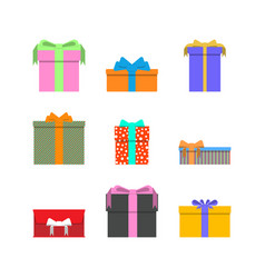 gift box collection isolated vector image