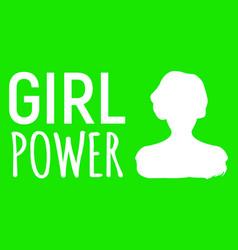Girl power banner gender equality label and logo vector
