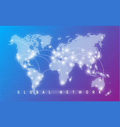 Global network worldwide communication and vector