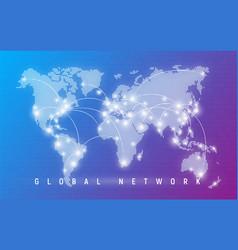 global network worldwide communication vector image
