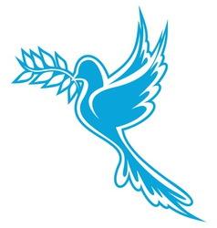 golub znak plavi resize vector image
