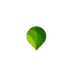 green point logo icon design vector image
