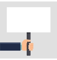 Hand holding a sign or blank poster Horizontal vector
