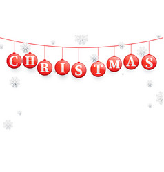 happy new year banner red christmas ball vector image