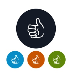 Icon hand giving thumbs up vector