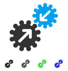 Integration gears flat icon vector