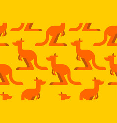 kangaroo pattern seamless australia animal vector image