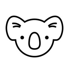 koala face simplified vector image
